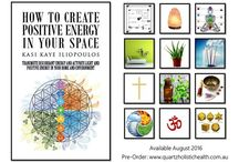How to Create Positive Energy in Your Space / How to Create Positive Energy in Your Space explains how you can assess your physical environment and its energetic imprint by looking at the location and structure and harmonising it by crystal gridding and Himalayan Salt placement.   It describes ways to shift discordant energy by decluttering, cleansing, and interior design and through the use of colour therapy, chakras, plants, flowers, aromas, sound, sacred geometry, and symbology.
