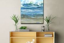 Beach House / Create a coastal feel inspired by sand, surf, and sun.  This relaxed style reminds us of lazy summer days in the sun. Bring aura of life on the beach to your indoor space.