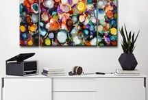 Rainbow / A jewelry box of color with these vibrant art pieces!