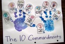 """Ten Commandments / Sunday School crafts, activities, lessons, games and snacks to help teach about the ten commandments.  AKA the """"10 best ways"""" of Godly Play."""