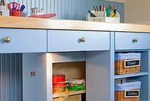 Organização e cantinhos crafts / Organizando espaços
