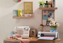 Craftspace Inspo / Here are some drool-worthy spaces to inspire you to create your own dream craftspace!