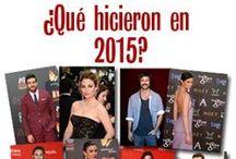 ¿Qué hicieron en 2015? / Nueva sección en magazinespain.com para repasar lo más destacado de nuestros famosos en 2015