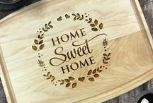 Personalized Laser Engraved Gifts / unique personalized, laser engraved cutting boards.