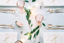 Wedding Decor & Tips / Wedding Theme: White, greenery and a touch of rose gold