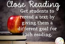 Close Reading / Read on for an awesome collection of close reading strategies and tips. Leave comments and let me know what information you like and what you need. Teach students how to read closely and their comprehension skills will soar!