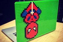 MacBook Case Lego Pixel Designs / Lego pixel art designs on Brik Book MacBook cases from BrikBook.com