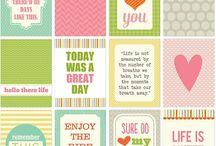 Free Journaling Cards - printable ♥