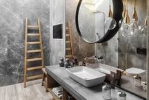 Bathroom Interiors / Gorgeous, practical, contemporary bathroom ideas and bathroom interior styling and decor inspiration. Featuring clean, modern, funky and calming spaces.