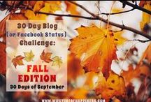 30 Day Blog Challenge / 30 Day Blog Challenge - Fall Edition