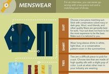 Dress for Success: Men / What should you wear to a job interview? To a new job or internship? Here's a collection to inspire your professional wardrobe! Note: Inclusion in this board does not represent endorsement.