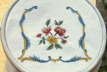 Bandera embroidery done by my hand / lavori eseguiti da me: ricamo bandera