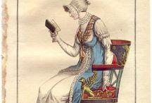 Vignette abiti d'epoca donna / Stampe modelli abiti donna 1790/1830