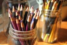 Art studio / 'Logic will get you from A to B.  Imagination will take you everywhere.' Albert Einstein