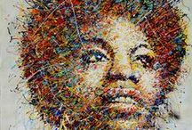 Portraits of Musicians - Art / A collection of portraits of great and late musicians.