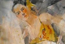 """ART - Figurative, Portraits, People / """"time to create"""" said her Heart """"it's about time,"""" replied her Soul"""