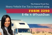 Truck Tax Dues / Pins about the Truckers Tax Form 2290 dues, E-filing 2290 truck taxes and more about 2290 tax filings.