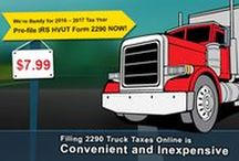 Prefile 2290 Truck Tax /  Form 2290 and Schedule 1 for the tax period beginning on July 1, 2016, and ending on June 30, 2017, if a taxable highway motor vehicle has a taxable gross weight of 55,000 pounds or more. Prefile your 2290 truck taxes from today at TruckDues.com and collect your IRS stamped Schedule-1 proof for payment immediately when IRS is back by early July.