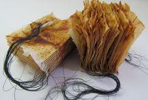 Altered tea bags: books / Tea bags made into books