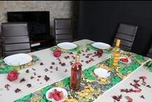 WaxinDeco - Linge de table / Decoration ethnique - Linge de table : du wax, du lin et des couleurs pour une table en fête