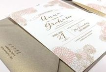 Invitations / Loving colorful graphics, great fonts and all-around good design.