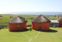 Swell Eco Lodge / Swell Eco Lodge offers exclusive Transkei Wild Coast accommodation with modern stylish interiors and traditional Xhosa exteriors.   http://www.go2global.co.za/listing.php?id=2292&name=Swell+Eco+Lodge