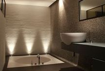 Bathroom Tips + Inspiration / The modern bathroom can feel like a spa with a variety of special touches, from the color and texture of the tile to the gleaming surfaces of garden tubs and walk-in showers. We're pinning all of these things while knowing PUPRLE products will provide the perfect foundation to these finishing touches.