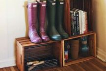 Mud Room Tips + Inspiration / Depending on the season or day of the week, your family may come home toting cross-country skis, throwing off wet raincoats, or banging football gear against the wall. PURPLE® products from National Gypsum are ready to help your walls tackle extreme daily wear and tear.