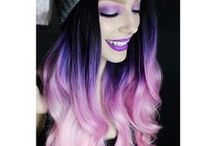 Colourful hairstyles