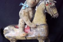 Vintage Horses, Horses, Horses..... / Love a vintage wooden horse to only decorate with.