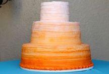 Ombre Wedding Cake / Tort Weselny Cieniowany, czyli Robiące Wrażenie Ombre!