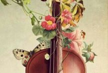Musical instrument / 様々な楽器と音のイメージ Image of various musical instruments and sound