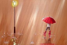 In the Rain / In the rain, you may be able to meet a nice partner… 雨音に誘われて街に…素敵な出来事の予感…