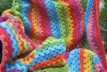 crochet-blankets / by Anneke