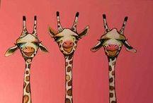 Giraffa's / Eu nunca vi um bicho com tanta elegância, não perde a pose mesmo dentro de um pijama. Com seu andar, dona Girafa é a mais bela, parece até desfilar na passarela...