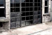 - metal + glass - / Glass Doors Framed in Steel