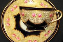 Fine china cups and saucers / delicate china