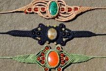 Woven Jewellery - macrame and others / Jewellery made with paracord, embroidery floss, suede, chains