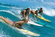// teeki ⭗⭖ surfin babes // / beaches. boards. babes