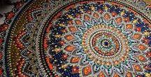 Zentangle / Zentangle inspirations * beautiful mandalas * Colourful patterns *