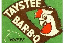 adv:MATCHBOOKS (bbq,barbecue,barbeque) / BBQ-related matchbook covers.  (tags: BBQ, Barbecue, Barbeque, Bar-b-cue, Bar-b-que, B-B-Q, grill, grilling, campfire, chuckwagon, chuck wagon) / by BBQ Explorer