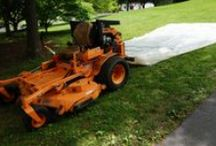Tarp Tow System for Commercial Zero Turns / Installation pictures of the Tarp Tow System on a SCAG Turf Tiger Commercial Zero Turn Riding Lawn Mower.