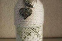 Garrafas decoradas... <3 / Reciclar...é um dos meus lemas e uma das minhas paixões. Decorar garrafas é algo que adoro fazer... <3