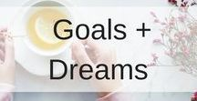Goals + Dreams / If you want to live a better life, then this board is for you, full of tips, Ideas and ways to live a healthier and more positive life. There are productivity hacks, personal development plans, ideas for morning and evening routines, tips on time management and help with getting the work-life balance.