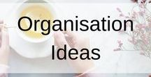 Organisation Ideas / This board contains ideas, tips and hacks to get organised. If you are looking for planners, calendars, storage and other organisation ideas, its all here.