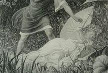 Fairy Folk / Antique Flower Fairy prints, vintage fairytale art