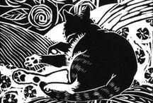 Woodcuts, engravings, linocuts / Printmaking - woodblock, woodcuts, engravings and lino prints, silhouettes, antique and modern