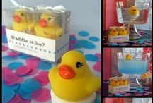 Gender Reveal Party / Gender Reveal Party Ideas, Unique inspiration for Waddle It Be? and Rubber Duck parties