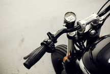 Bare, Naked Motorcycles. / Motorcycle - Cafe Racer, Bobbers and the like.