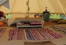 Camping / Camping Inspiration, Bell Tent Decor